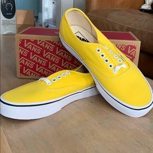 Yellow Vans-never worn.